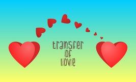 Transferencia del amor Fotos de archivo libres de regalías