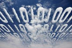 Transferencia del código binario Fotografía de archivo