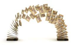 Transferencia del dólar canadiense Imagenes de archivo