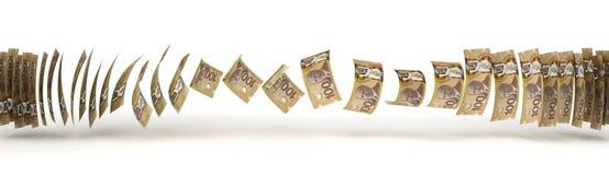 Transferencia del dólar canadiense Fotos de archivo libres de regalías