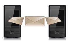 Transferencia del mensaje Fotografía de archivo libre de regalías