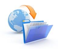 Transferencia directa de los ficheros. Fotos de archivo