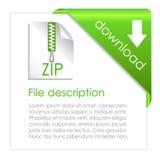 Transferencia directa del archivo de la cremallera ilustración del vector