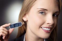 Transferencia directa del Memory Stick Fotografía de archivo libre de regalías