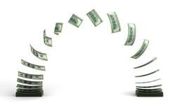 Transferencia monetaria Imagen de archivo libre de regalías