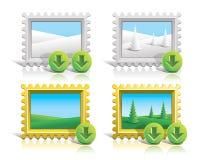 Transferencias directas de los iconos Imagenes de archivo