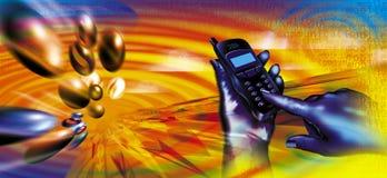 Transferencias directas móviles Fotos de archivo