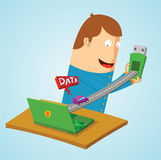 Transfering data Royalty Free Stock Images