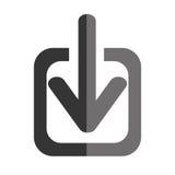 Transferência do ícone isolado Internet Foto de Stock