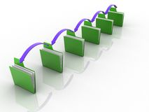 Transferência dos dados Imagem de Stock
