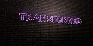 TRANSFERRED -Realistic Neon Sign on Brick Wall background - 3D rendered royalty free stock image Royalty Free Stock Image