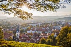 Transferrina, capitale della Slovenia Immagini Stock