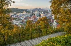 Transferrina, capitale della Slovenia Fotografia Stock