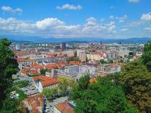 Transferrina, Slovenia - vista della città da sopra Immagini Stock Libere da Diritti