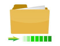 Transferring folder icon concept illustration. Design on white Royalty Free Stock Photo