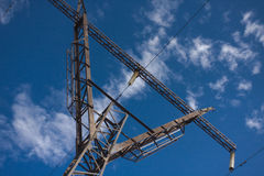 Transfert d'énergie électrique Images stock