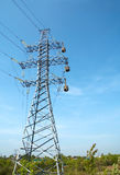 Transfert d'énergie électrique Photos libres de droits