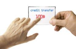 Transfert d'argent électronique photographie stock