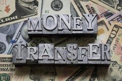Transfert d'argent images stock