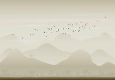 Transfert d'oiseaux Illustration de Vecteur