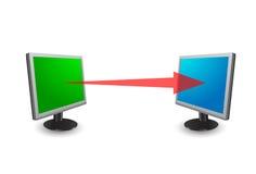 transfert de données Image stock