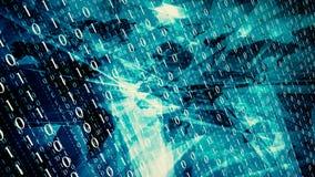 Transfert de données numériques, concept de sécurité de cyber illustration libre de droits