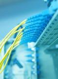 Transfert de données par à fibre optique Images stock