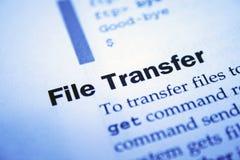 Transfert de fichier photo libre de droits
