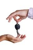 Transfert des clés de contact image libre de droits