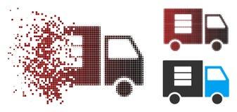 Transfert des données tramé décomposé Van Icon de pixel illustration libre de droits