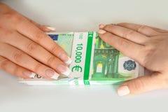 Transfert des paiements illicites Photographie stock
