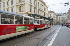Transfert public à Prague, République Tchèque photographie stock libre de droits