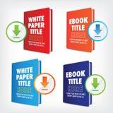 Transfiera el gráfico de Whitepaper o de Ebook Fotos de archivo libres de regalías
