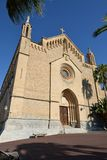 Transfiguracio del Senyor教区教堂  免版税库存图片