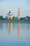 Transfiguratiekathedraal in de stad van Rybinsk Rusland Stock Foto's