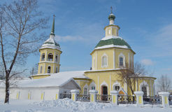 Transfiguratiekerk in de stad van Irkoetsk Royalty-vrije Stock Fotografie