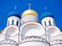 Transfiguration Cathedral. In Nicolo-Ugreshsky monastery near Moscow, Russia, East Europe royalty free stock photography