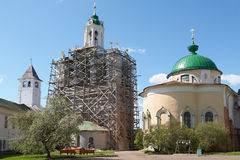 Transfiguration Cathedral and belfry Royalty Free Stock Photography