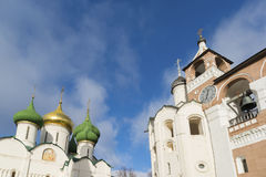Transfiguration Cathedral and belfry at  St Stock Photo