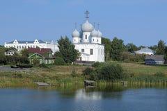 Transfiguration Cathedral in Belozersk Kremlin Stock Photos