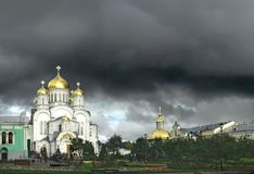 Transfiguration Cathedral in Diveevo (Russia) royalty free stock photo