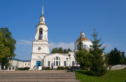 Transfiguration Cathedral in Man's Piously-Nikolaev monastery Royalty Free Stock Image