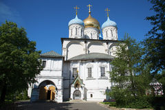 Transfiguration Cathedral Novospassky Monastery in Moscow Royalty Free Stock Image