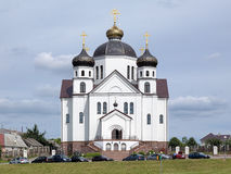 Transfiguration Cathedral in Smorgon, Belarus. Orthodox Transfiguration Cathedral in Smorgon, Belarus royalty free stock photography