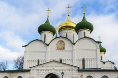 Transfiguration Cathedral in St. Euthymius monastery at Suzdal was built the 16th century. Golden Ring of Russia Travel Royalty Free Stock Image