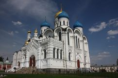 Transfiguration Cathedral. St. Nicholas Ugreshsky monastery. Royalty Free Stock Photo