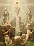 The Transfiguration Of Christ. These images are public domain. Illustration for the Emperor Nicholas 1. Paris 1841 royalty free illustration