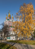 Transfiguration Church of Novodevichy convent. Stock Photo