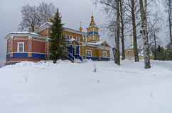 Transfiguration Church in Orthodox monastery. Stock Photo