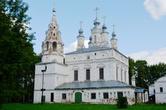 Transfiguration Church of the Savior-Transfiguration parish in Veliky Ustyug. View of Transfiguration Church of the Savior-Transfiguration parish in Veliky stock image